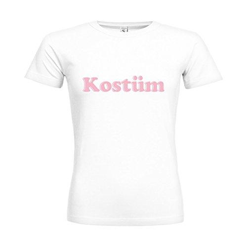 -Shirt Kostüm 20drpt15-w00385-18 Textil White/Motiv Babyrosa/Gr. XXL (Kostüm Femme Xviii)