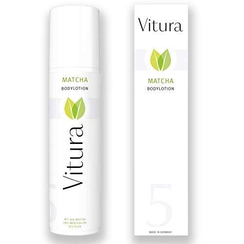 Matcha Bodylotion mit BIO Matcha, BIO Sheabutter und vielen hochwertigen BIO Pflegeölen - Vitura...