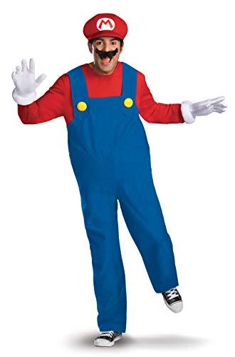 Kostüm Kinder Deluxe Luigi - Generique - Mario Deluxe-Verkleidung für Erwachsene XL