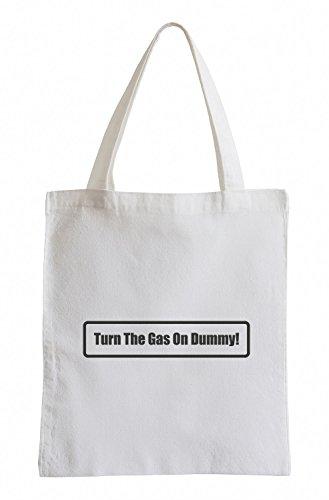 J.Roxx Turn the Gas on Dummy! Fun Jutebeutel (Raceing Car)