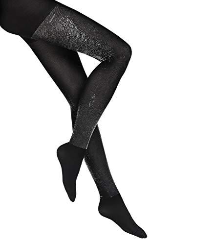 Wolford Damen Wilma Tights black/silver metallic S -