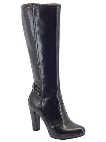 Stivali NeroGiardini in pelle nera con tacco alto (Taglia 38)