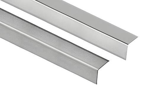 2 Meter | Eckschutzprofil L-Form | Edelstahl | Außenecke | 16mm | HEX200 SP