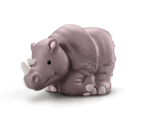 Fisher Price - W2588 - Figurine - Jouet d'Eveil Premier Age - Animaux du Zoo Little People - Rhinoceros