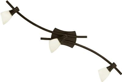 Eglo Wand Deckenleuchte Modell ONA 1 / 3 flammig / in antikbraunem Stahl und champagnerfarbenem Glas / HV 3 x G9 33 W / inklusiv Leuchtmittel / 78.0 x 10 cm 87369 von Beco GmbH & Co. KG auf Lampenhans.de