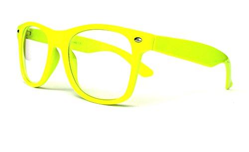 50er 60er 80er 90er Jahre Vintage Sonnenbrille Sommerbrille Clubmaster Style Rockabilly Trend 2017 2018 Mode Fashion Fashionbrille Designer Brille gelb klar klare Gläser