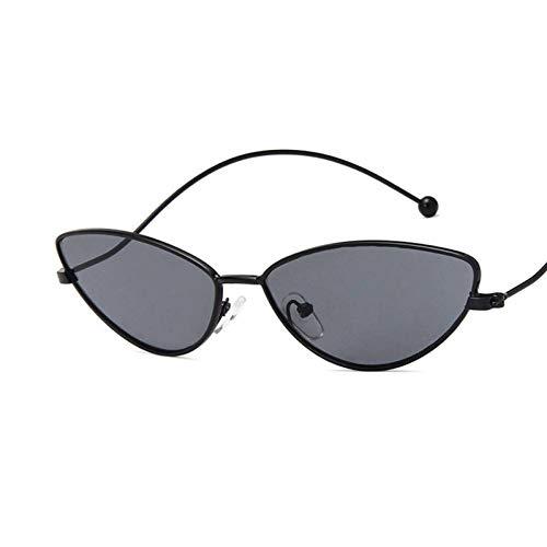WZYMNTYJ Frühling Sommer Stil Cat Eye Sonnenbrille Frauen Metallrahmen Retro Sonnenbrille Weibliche Rot Gelb Klare Linse Gläser Schatten Uv400