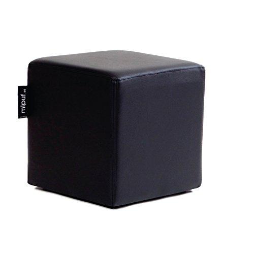 MiPuf - Puff Cube Original Tamaño 40x40x40 - Polipiel - Color Negro