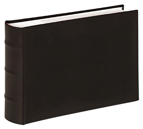 walther design ME-373-B Classic artificial leather memo slip-in album with