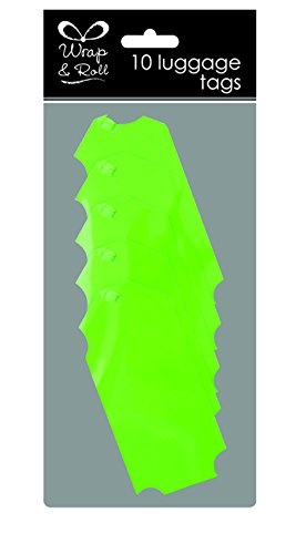 6Stück Neon Grün fluoreszierenden Gepäck Geschenk Tags Verpackung - Apple Gepäck-tag