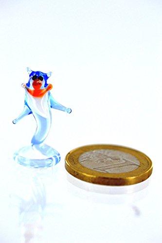 Djinn Miniatur Figur aus Glas Blauer Flaschengeist - Glasfigur Geist aus der Lampe Lampengeist Deko Setzkasten Vitrine Glücksbringer ()
