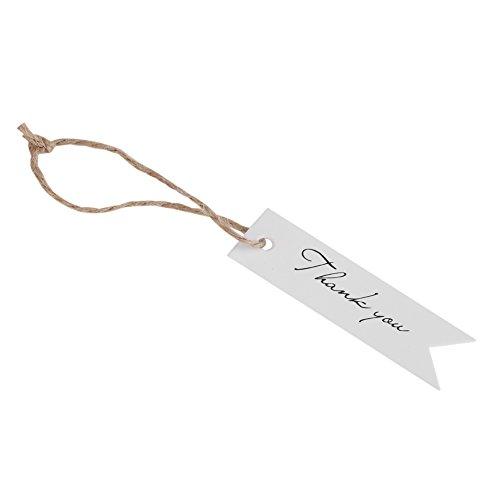 Handgemachte Tags - 100 Stück Kraftpapier Tags DIY Tags Handmade Label Handwerk Hang Tags für Hochzeit Brown Craft Hang Tags mit freien 100 Fuß natürliche Jute(white) -