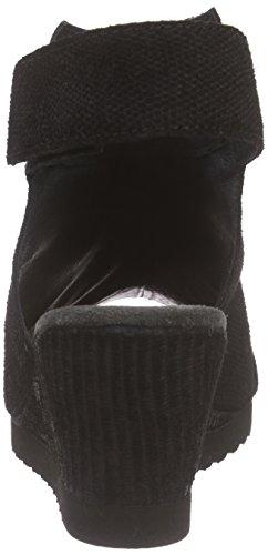cashott - 15082, Scarpe col tacco con cinturino a T Donna Nero (Schwarz (BLack Tejus 040))