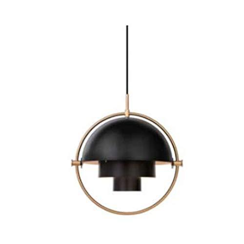 CRESDAR&L Pendelleuchten Glas Metall Pendelleuchte Transformation Lampe für Wohnzimmer Wohnkultur Black 31-40W