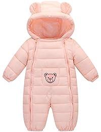 Mono De Nieve Bebés Mameluco De Invierno Oso Lindo Impresión De La Estrella Lindo Pijama Peleles con Capucha