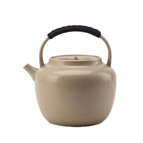 SCJS Handmade Pottery Pot Girders Pot Ceramic Kettle Tea Pot Stoneware Boiling Water Teapot Kung Fu Tea Set Home Teapot (Color : C) Quart Flame Top