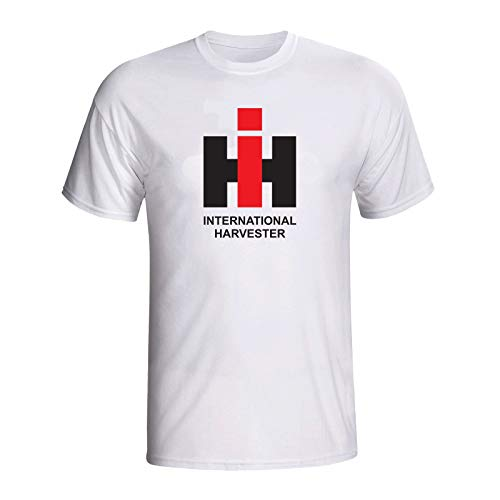Case Ih International Harvester Classic Logo White Tee Shirt Agriculture Farming Equipment Machines T Shirt Mens Casual Style Cotton Bottoming T-Shirt Short Sleeves Tops Clothing - Case Ih International