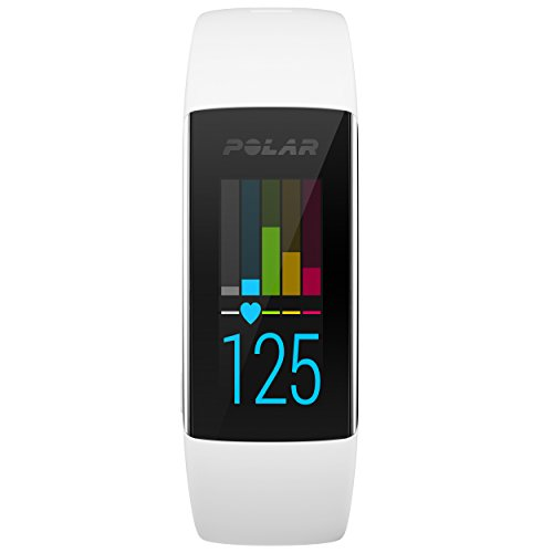 Polar A360 Fitness Tracker with Wrist Heart Rate Monitor – Size S, White