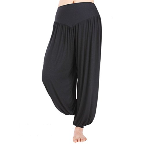 HOEREV Super Soft Modal Spandex Harem Yoga/ Pilates Pants Test