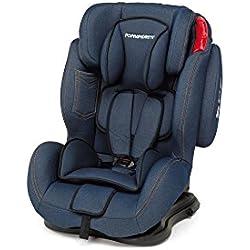 Foppapedretti Dinamyk 9-36 Seggiolino Auto, Gruppo 1/2/3 (9-36kg), per Bambini da 9 a 12 Anni circa, Blu Scuro (Jeans)