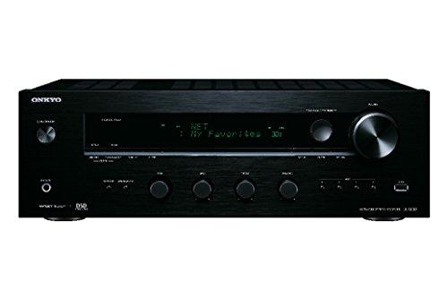 Onkyo TX-8130 (B) Netzwerk-Stereo-Receiver (110W/Kanal, Phono, 384kHz/32-Bit DAC, Hi-Res Audio, Spotify, Deezer, DLNA, RDS) schwarz
