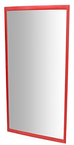 Henbea- Espejo Infantil acrílico con Marco de Madera, Color Rojo, 120x50 cms (755/B1)