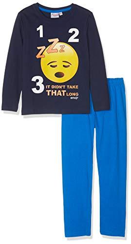 Emoji Jungen 2375 Zweiteiliger Schlafanzug, Blau Bleu Marine, 10 Jahre