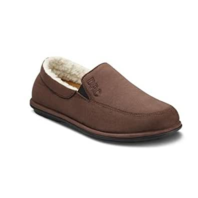 Relax' Closed Heel Slippers - Men 's - Camel or Chocolate - Ultra Comfort for Sensitive Feet - Includes Removable DRC Gel Insoles | Free UK Size Exchange Returns |