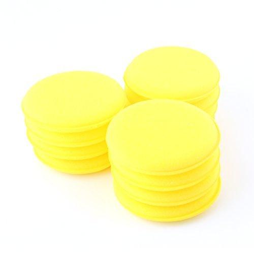 12pcs Coche Cera polaco esponja de espuma Aplicador de Cera para almohadilla de limpieza para Vehículos Glass