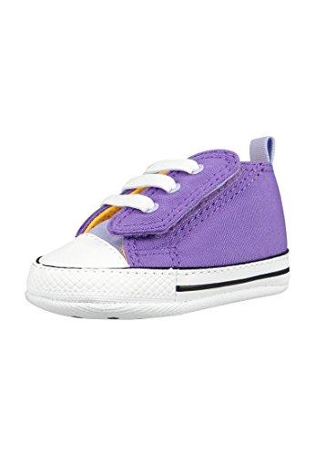 Converse Baby Krabbelschuhe First Star Chuck Easy Slip Hi Geschenkbox Brigt Violet/ Purple Agate (mehrfarbig), Größe:19 (Schuhe Hi Mädchen Star)