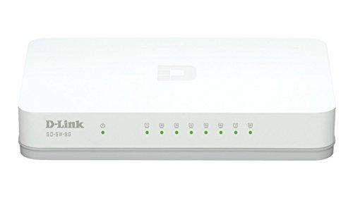 D-Link GO-SW-8G Switch 8 Porte Gigabit, Serie Dlinkgo, Bianco