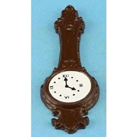 Dollhouse Banjo Clock-brown by Superior Dollhouse Miniatures