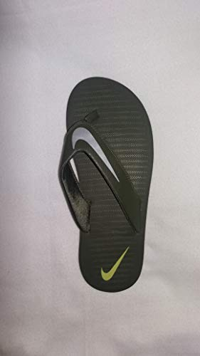 Nike Men's Chroma 5 Black/Chrome Flip Flops Thong Sandals-8 UK (42.5 EU) (9 US) (833808-007-BLACK/CHROME-8)
