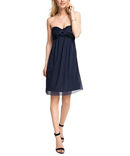 ESPRIT Collection Damen Kleid 036eo1e027-mit Stretch Blau (NAVY 400)