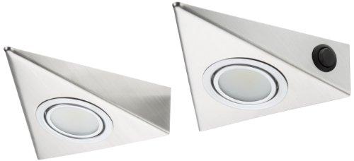 IKM LED Dreieckleuchte Edelstahl 2-er Set (mit Zentralschalter) 59302221/B