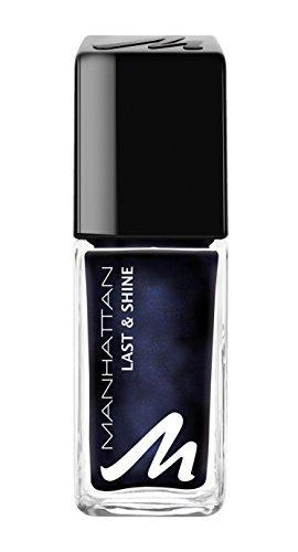 Manhattan Last & Shine Nagellack - Dunkelblauer Nail Polish mit rosanem Glanz für 10 Tage perfekten Halt - Farbe Moonlight Magic 685 - 1 x 10ml