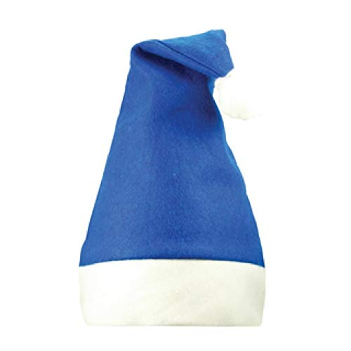 Grill-Poker-Kostüm-Shop 12 x Weihnachtsmütze blau weiß Nikolaus Mütze -