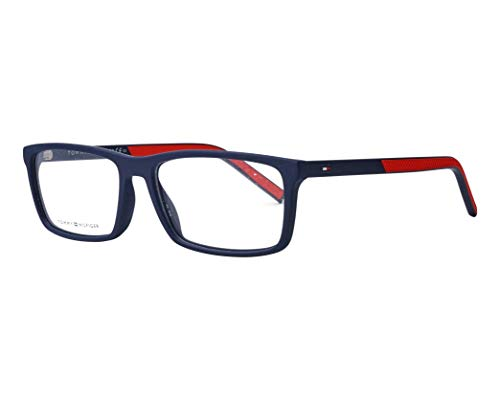 Tommy Hilfiger Brille (TH-1591 FLL) Acetate Kunststoff matt blau - matt rot