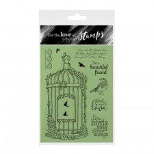 Hunkydory-per l' amore di francobolli-fioritura Birdcage