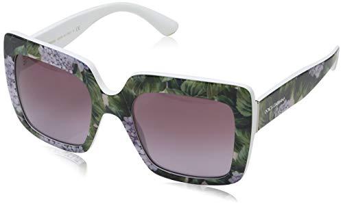 Dolce & Gabbana Damen 0DG4310 31498H 52 Sonnenbrille, Weiß (Print Hydrangea On White/Violetgradient),