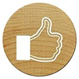 Woodies Mini Facebook Daumen Stempel, Holz, braun, 15mm