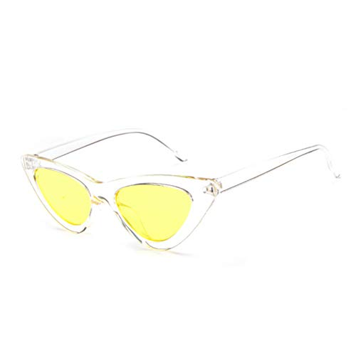 WTACK Retro- Rote SteampunkKatzensonnenbrillefrauenaugensonnenbrille Kleine Damenspiegel-Retro- Dreieck Qualität