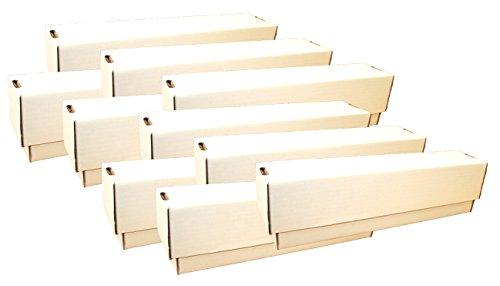 collect-it Unbekannt 10 Riesen Deck-Boxen - Aufbewahrung (weiß) für ca. 10.000 Karten Aller Größen (Fußball-karte Ordner)