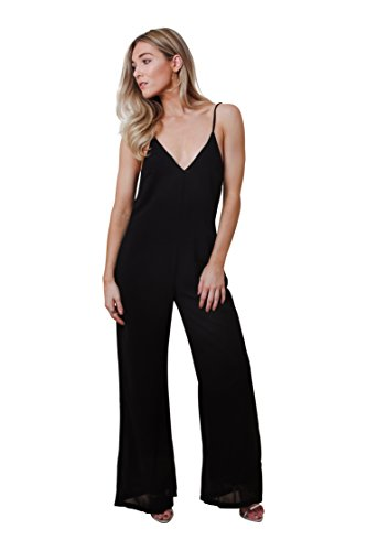 4743fa2929a Pretty Lavish Women s Black Backless Relaxed Jumpsuit