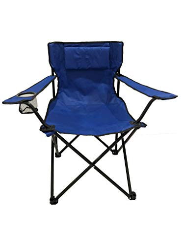 HOMECALL Camping Chair, Foldable, Armrest with Cupholder Picnic Chair Outdoor Pillow