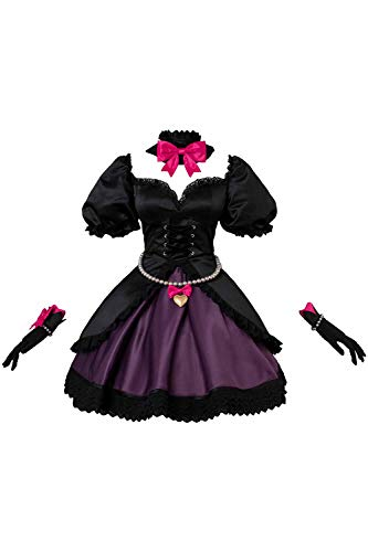 Manfis Hana Song Overwatch DVA Schwarze Katze Kleid Damen Offizier Uniform Cosplay Kostüm