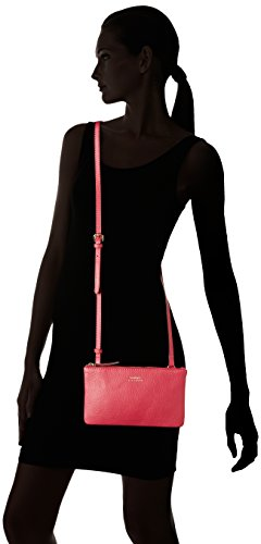 Loxwood - Petit Crossover Double Zip, Borsa a tracolla Donna Rose (Orchid)