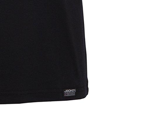 JOCKEY 2 Pack Rundhals T Shirts Tee CREW NECK T-Shirts shirt american shirts S - XXXL 2 x schwarz black