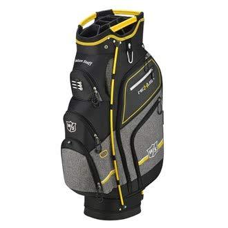 Wilson Staff Herren Cartbag, Golftasche mit 14 Fächern, Zur Verwendung mit Cart oder Trolley, Nexus 3, schwarz/gelb, WGB5604OY