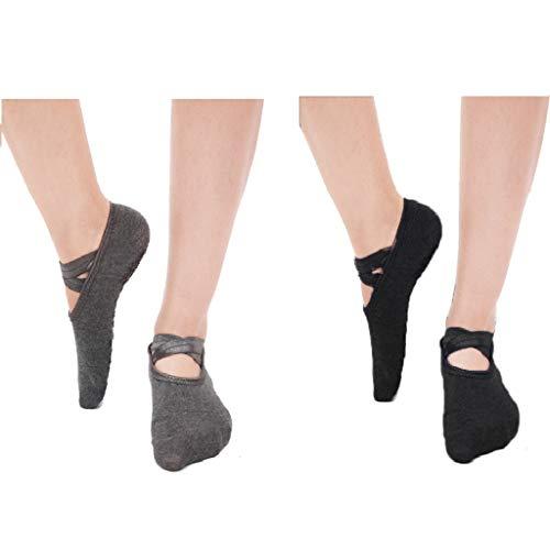 fitness antibatteriche e assorbenti del sudore adatte per pilates 5 paia di calze da yoga per donne con impugnature antiscivolo danza classica allenamento a piedi nudi yoga arti marziali